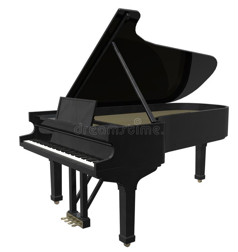 Μεγάλο πιάνο ελεύθερη απεικόνιση δικαιώματος