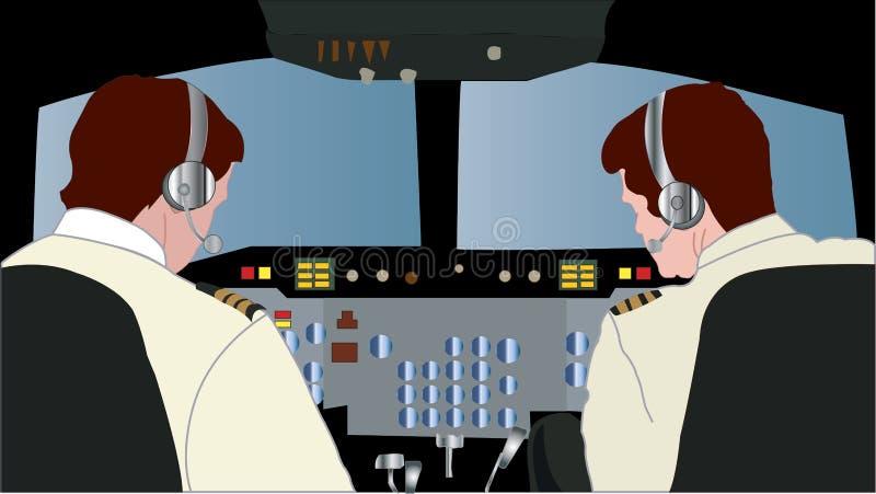 Μεγάλο πιλοτήριο αεροσκαφών απεικόνιση αποθεμάτων