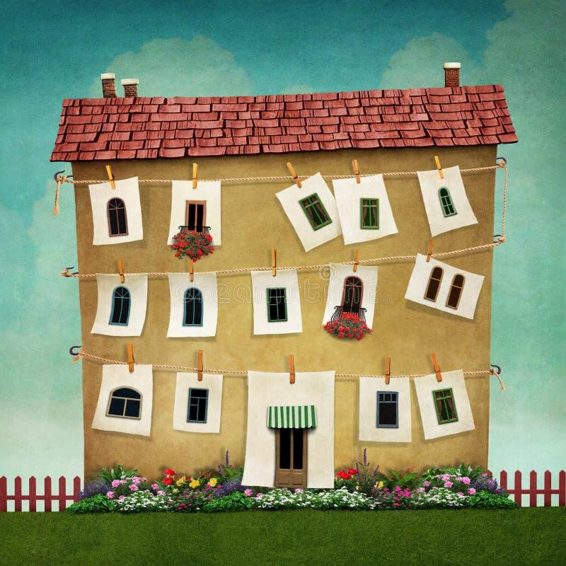 μεγάλο σπίτι διανυσματική απεικόνιση