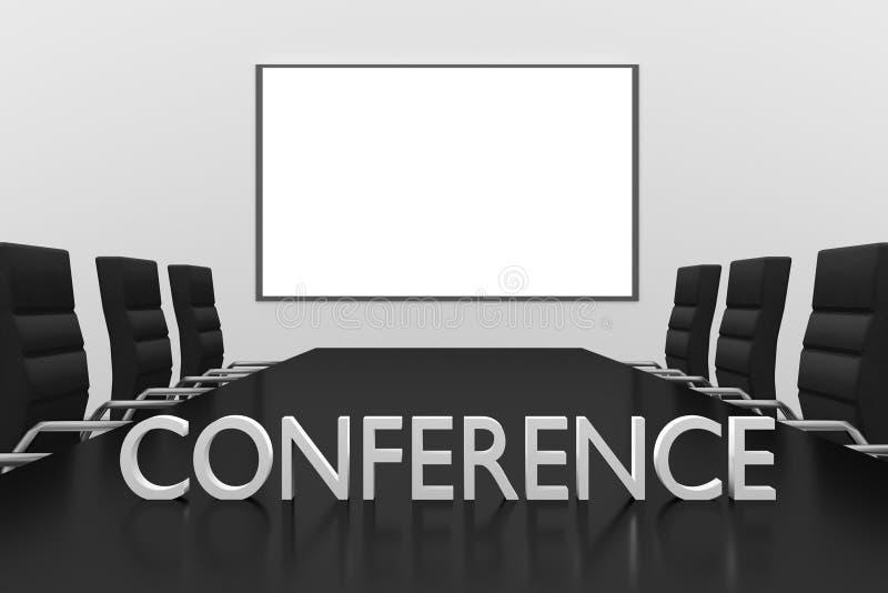Μεγάλο σύμβολο whiteboard αίθουσας συνδιαλέξεων στο γραφείο διανυσματική απεικόνιση