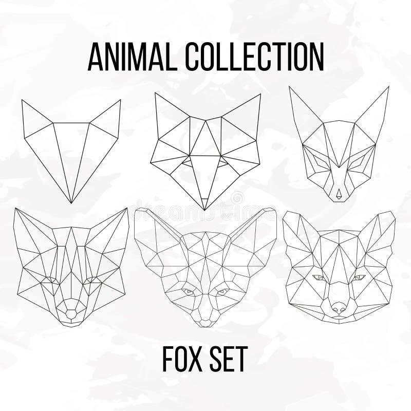 Μεγάλο σύνολο αλεπούδων απεικόνιση αποθεμάτων