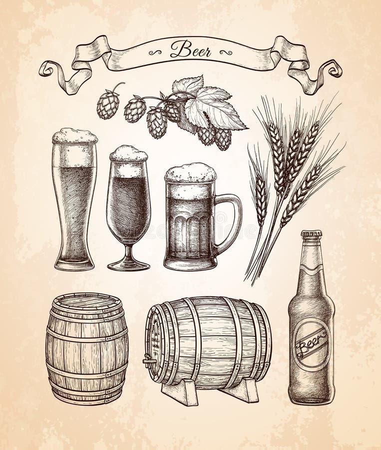 Μεγάλο σύνολο μπύρας απεικόνιση αποθεμάτων