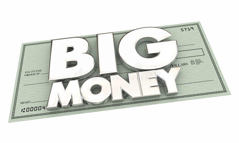 Μεγάλο τζακ ποτ Word πληρωμής ελέγχου χρημάτων ελεύθερη απεικόνιση δικαιώματος