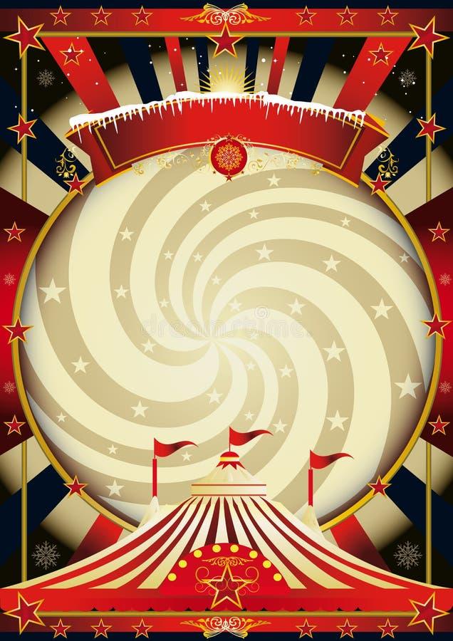 Μεγάλο τοπ τσίρκο Χριστουγέννων κρέμας ελεύθερη απεικόνιση δικαιώματος