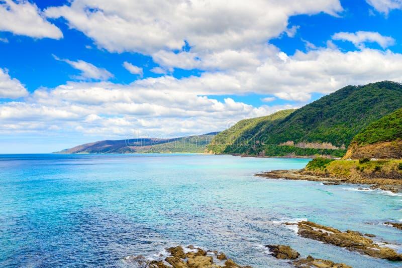 Μεγάλο ωκεάνιο οδικό τοπίο, Βικτώρια, Αυστραλία στοκ φωτογραφία