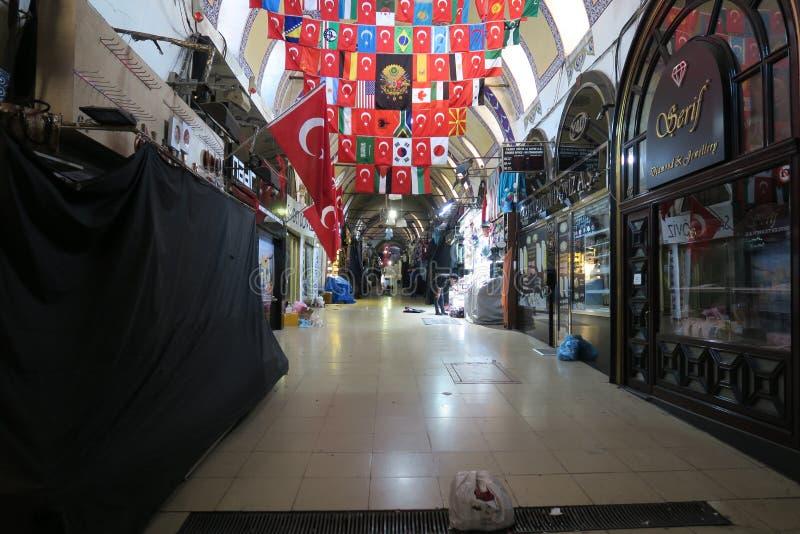 Μεγάλο Basar στη Ιστανμπούλ μετά από την ώρα κλεισίματος, στην Τουρκία στοκ εικόνες