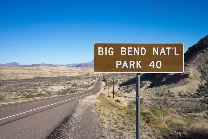 Μεγάλο bty terlingua Τέξας σημαδιών πάρκων κάμψεων εθνικό στοκ εικόνες