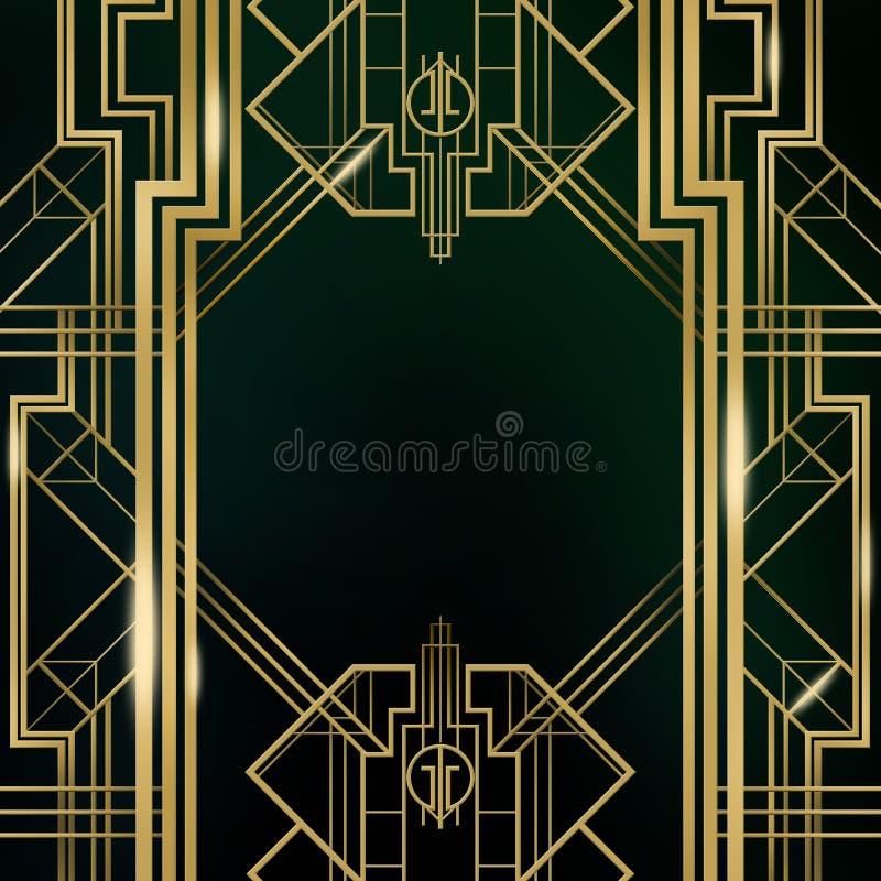 Μεγάλο Gatsby υπόβαθρο του Art Deco διανυσματική απεικόνιση