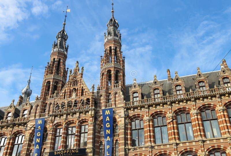 Μεγάλο plaza εμπορικών κέντρων στο Άμστερνταμ, οι Κάτω Χώρες στοκ φωτογραφία