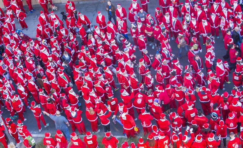 Μεγάλο Santa τρέξιμο του Λας Βέγκας στοκ εικόνα