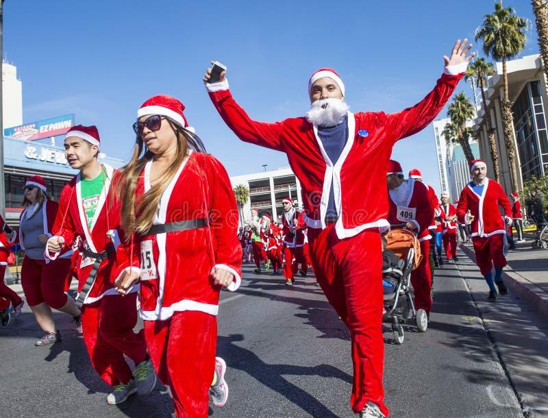 Μεγάλο Santa τρέξιμο του Λας Βέγκας στοκ εικόνες με δικαίωμα ελεύθερης χρήσης