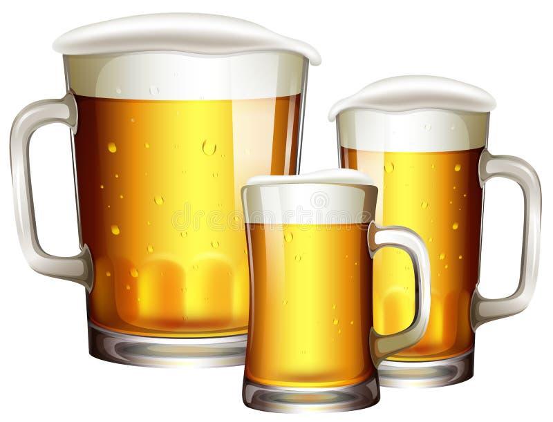 Μεγέθη του γυαλιού μπύρας απεικόνιση αποθεμάτων