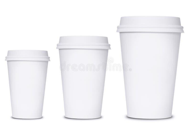 Μεγέθη φλυτζανιών καφέ στοκ φωτογραφία με δικαίωμα ελεύθερης χρήσης