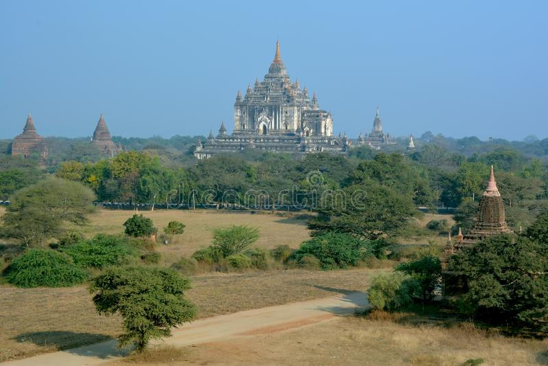 Μεγαλοπρεπές Thatbyinnyu Phaya - ο πιό ψηλός βουδιστικός ναός Bagan, το Μιανμάρ στοκ φωτογραφία