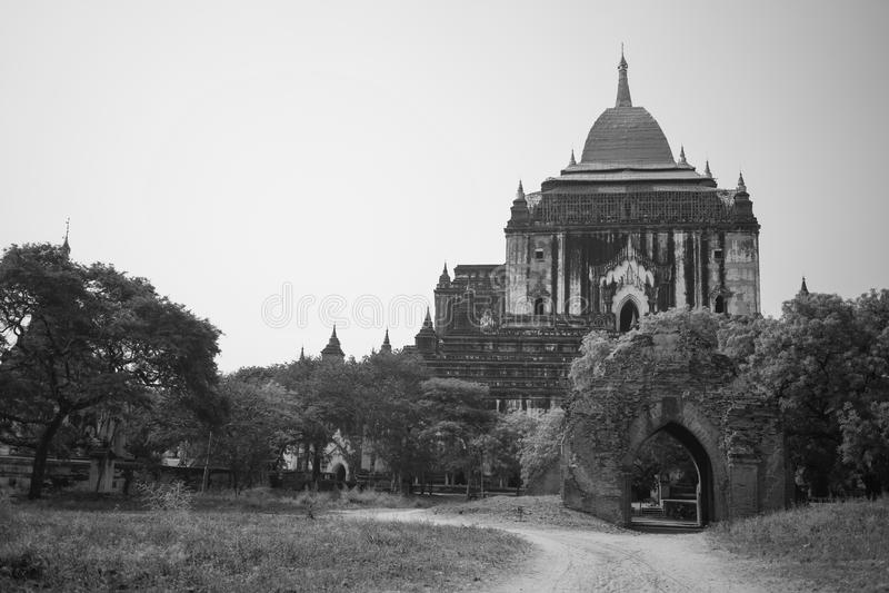 Μεγαλύτεροι βουδιστικοί αρχαίοι ναοί, Bagan, το Μιανμάρ στοκ φωτογραφία με δικαίωμα ελεύθερης χρήσης