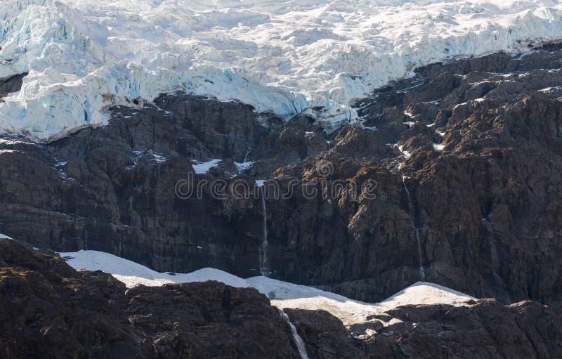 Μεγαλοπρεπής άποψη Rob του παγετώνα του Roy στοκ εικόνες