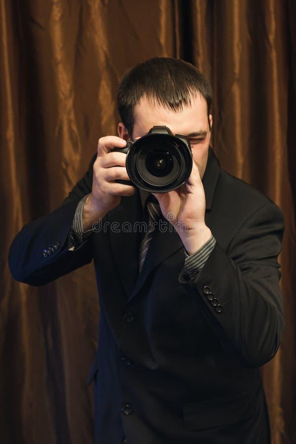 Μεθοδικός φωτογράφος στοκ εικόνες