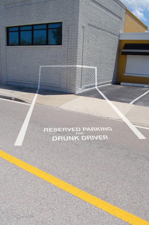 Μεθυσμένος χώρος στάθμευσης οδηγών στοκ εικόνες με δικαίωμα ελεύθερης χρήσης