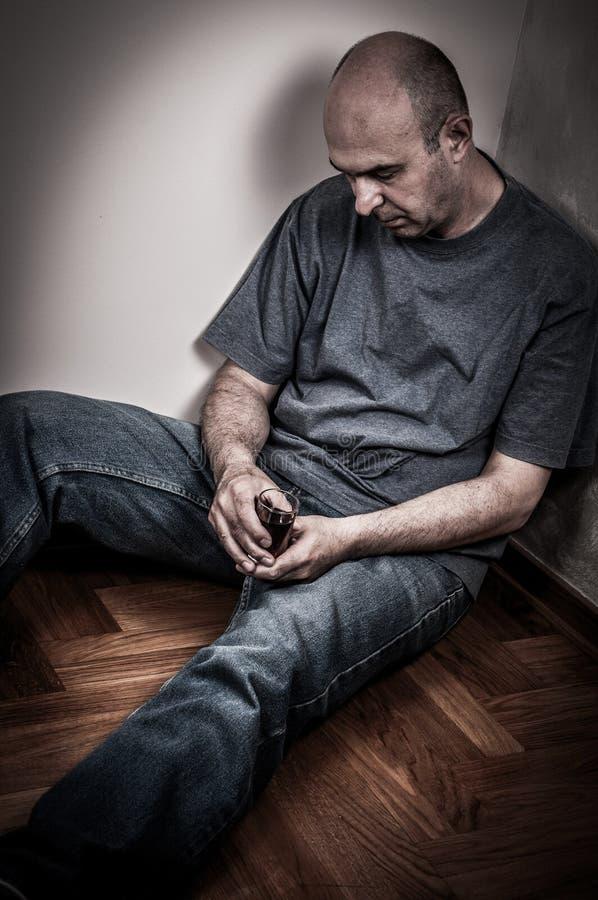 μεθυσμένο άτομο στοκ φωτογραφία