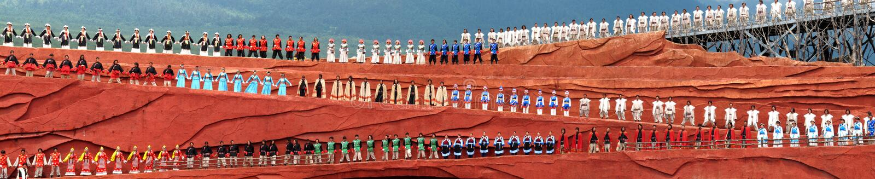 μειονότητες yunnan στοκ εικόνες