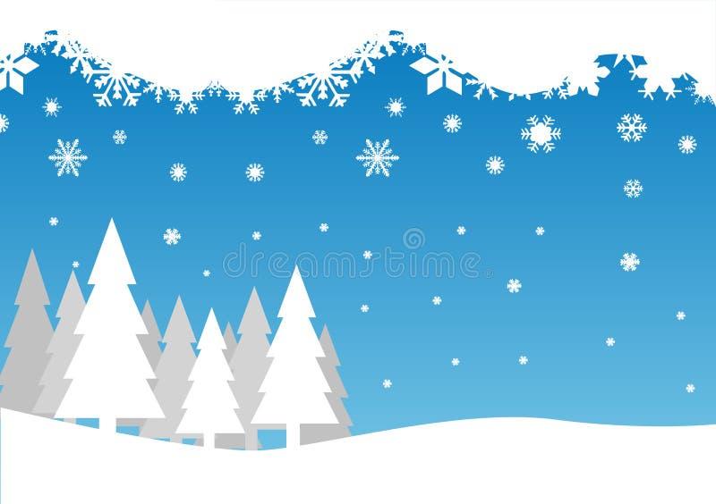 μειωμένα δέντρα χιονιού απεικόνιση αποθεμάτων