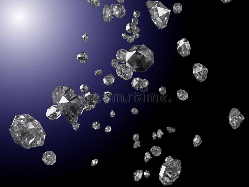 Μειωμένα διαμάντια απεικόνιση αποθεμάτων