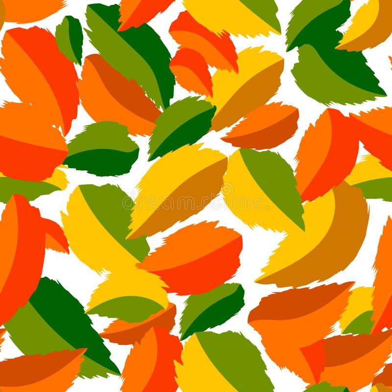 Μειωμένα φύλλα στην άνευ ραφής διανυσματική απεικόνιση σχεδίων διανυσματική απεικόνιση