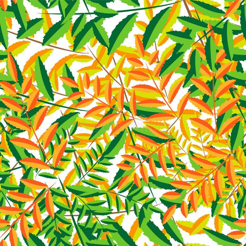 Μειωμένα φύλλα στο άνευ ραφής σχέδιο διανυσματική απεικόνιση