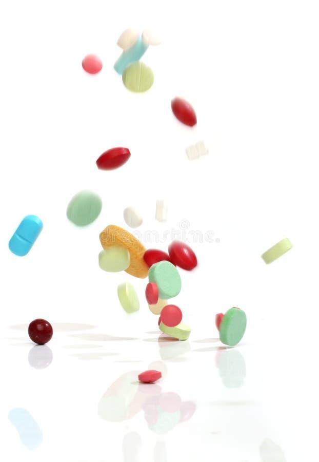 μειωμένα χάπια ιατρικής στοκ φωτογραφία