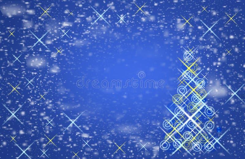 Μειωμένα snowflakes στον ουρανό Ο μαγικός των Χριστουγέννων, στοκ φωτογραφία με δικαίωμα ελεύθερης χρήσης