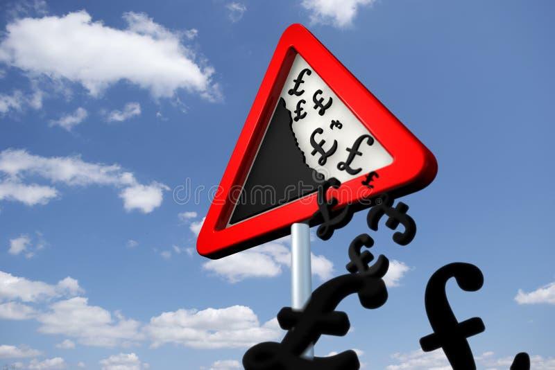 μειωμένες τιμές κινδύνου διανυσματική απεικόνιση