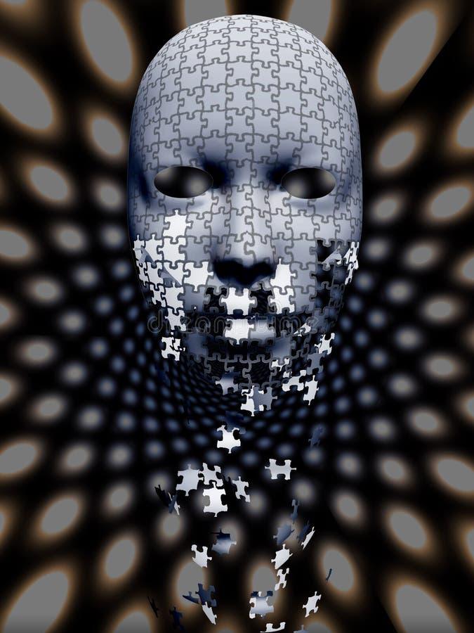 Μειωμένη σύνθεση μασκών γρίφων ελεύθερη απεικόνιση δικαιώματος