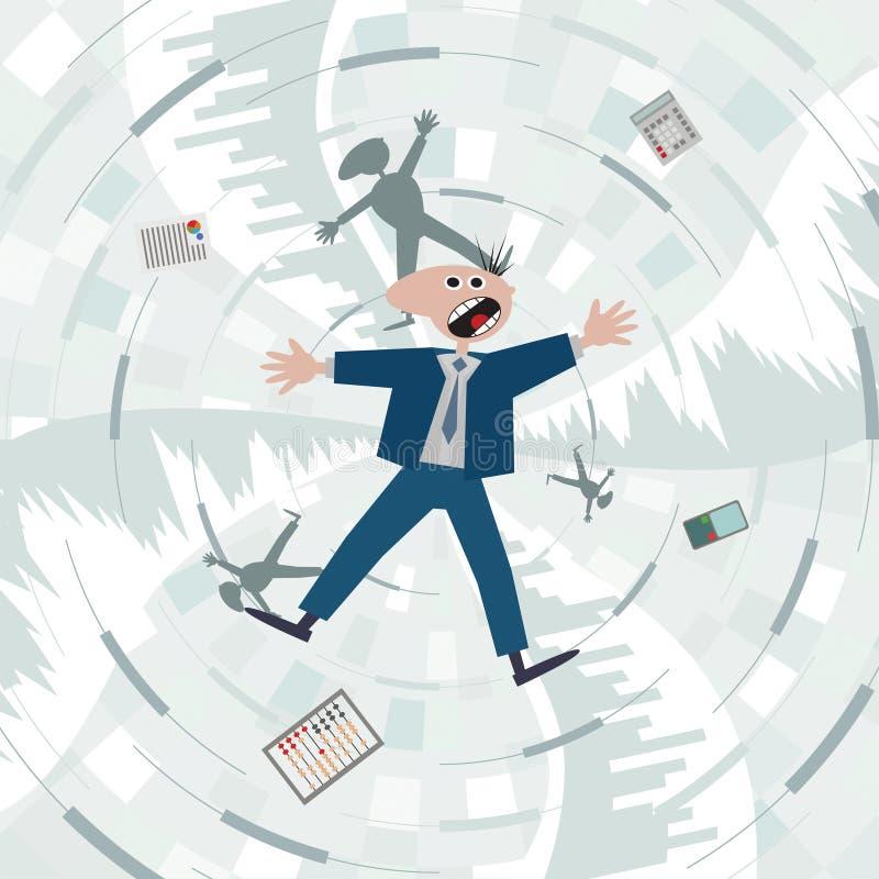 μειωμένο οικονομικό ποσοστό διαγραμμάτων κρίσης Πτώση στην παγίδα χρέους διανυσματική απεικόνιση
