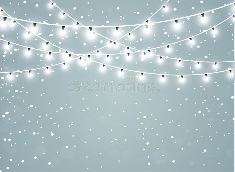 Μειωμένο χιόνι σε ένα διαφανές υπόβαθρο σπινθηρίσματος Αφηρημένη snowflake ανασκόπηση επίσης corel σύρετε το διάνυσμα απεικόνισης διανυσματική απεικόνιση