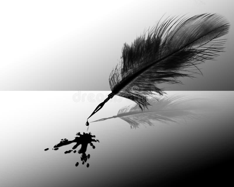 μελάνι φτερών απεικόνιση αποθεμάτων