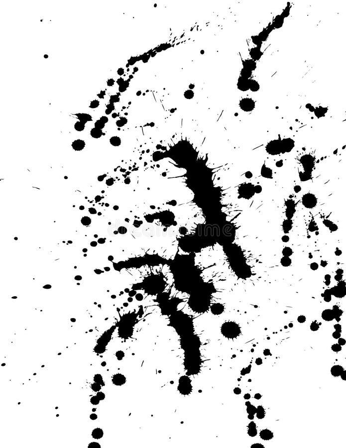 Μελάνι splat στοκ φωτογραφία