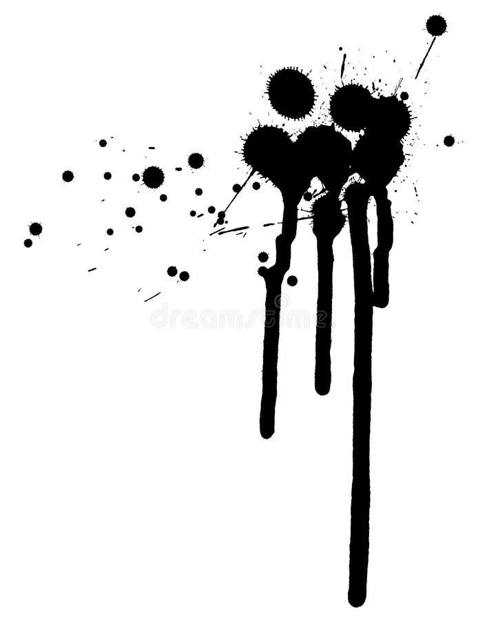 μελάνι splat διανυσματική απεικόνιση