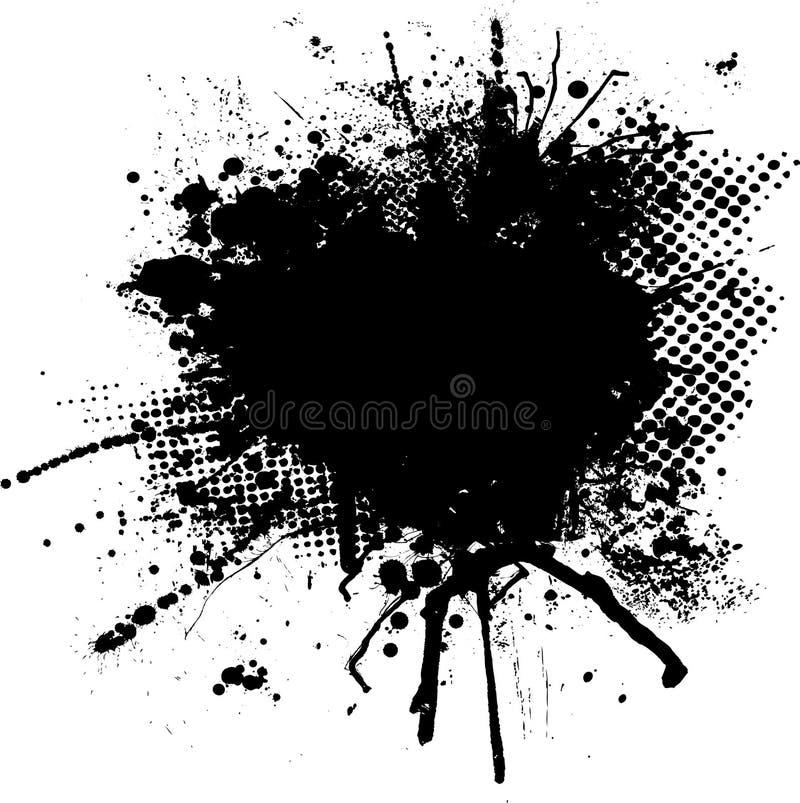 μελάνι splodge διανυσματική απεικόνιση