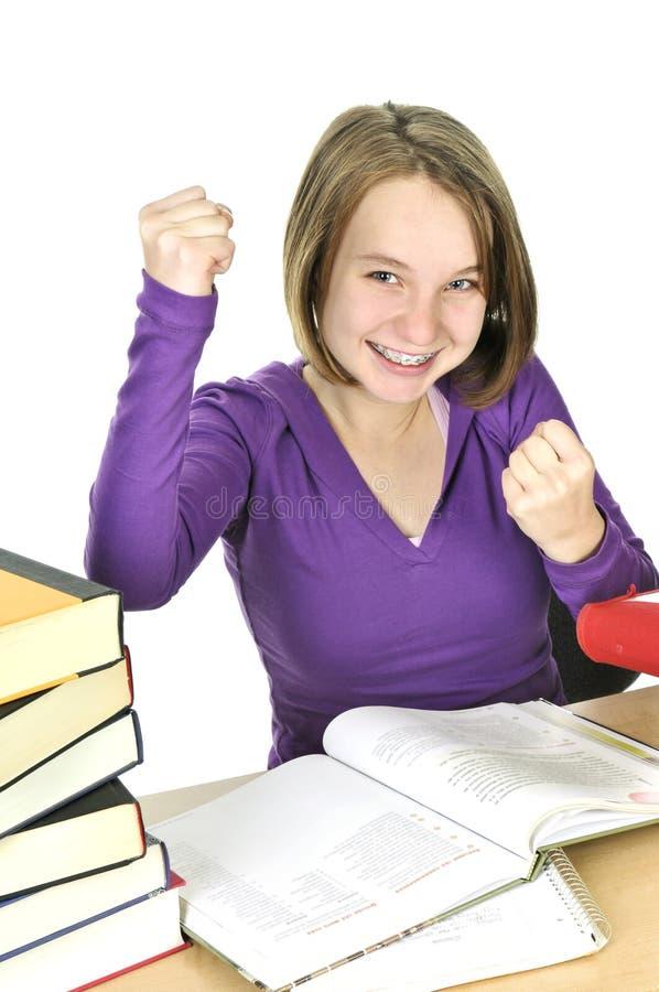 μελέτη κοριτσιών εφηβική στοκ εικόνα με δικαίωμα ελεύθερης χρήσης