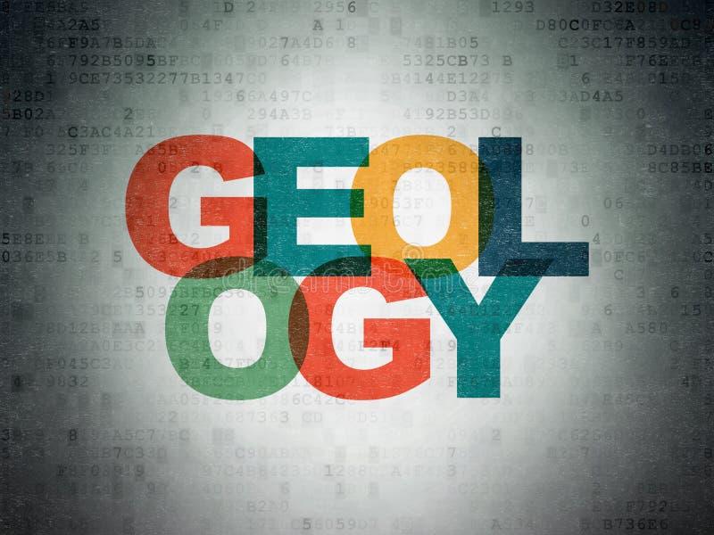 Μελέτη της έννοιας: Γεωλογία στο υπόβαθρο εγγράφου ψηφιακών στοιχείων ελεύθερη απεικόνιση δικαιώματος