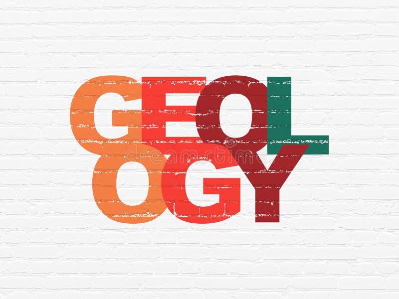 Μελέτη της έννοιας: Γεωλογία στο υπόβαθρο τοίχων ελεύθερη απεικόνιση δικαιώματος