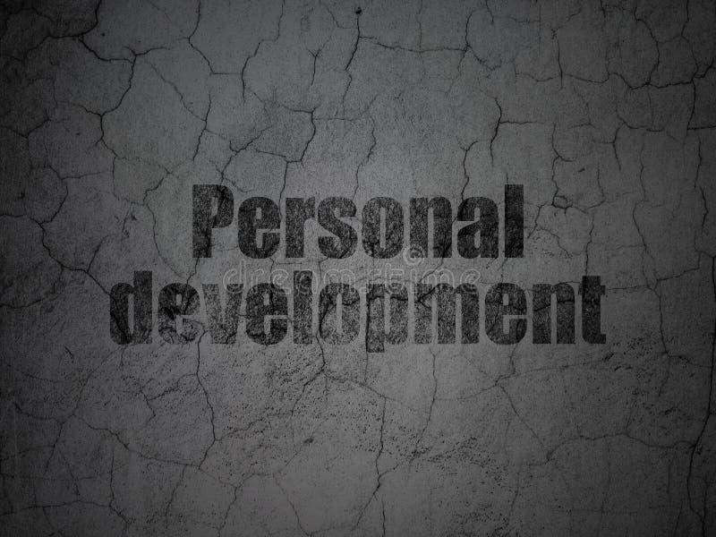 Μελέτη της έννοιας: Προσωπική ανάπτυξη στο υπόβαθρο τοίχων grunge απεικόνιση αποθεμάτων