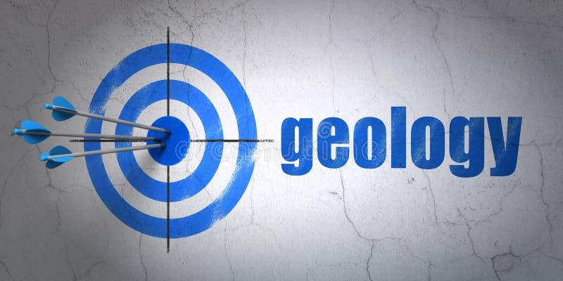 Μελέτη της έννοιας: στόχος και γεωλογία στο υπόβαθρο τοίχων απεικόνιση αποθεμάτων