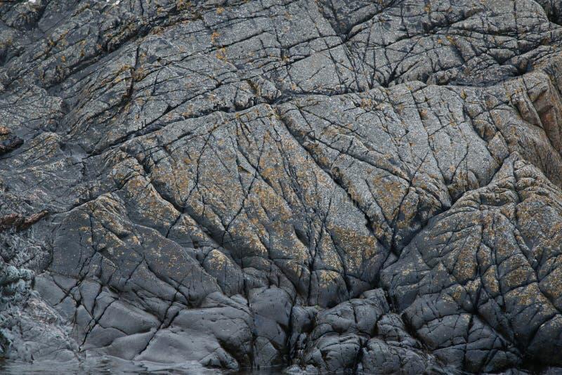 Μελέτη του βράχου και των ορυκτών σχηματισμών, Northumberland και σκωτσέζικα σύνορα στοκ φωτογραφίες με δικαίωμα ελεύθερης χρήσης
