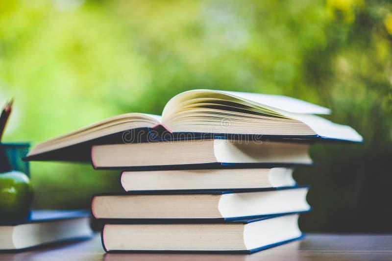 Μελέτη των βιβλίων και των υλικών εκμάθησης στοκ φωτογραφία