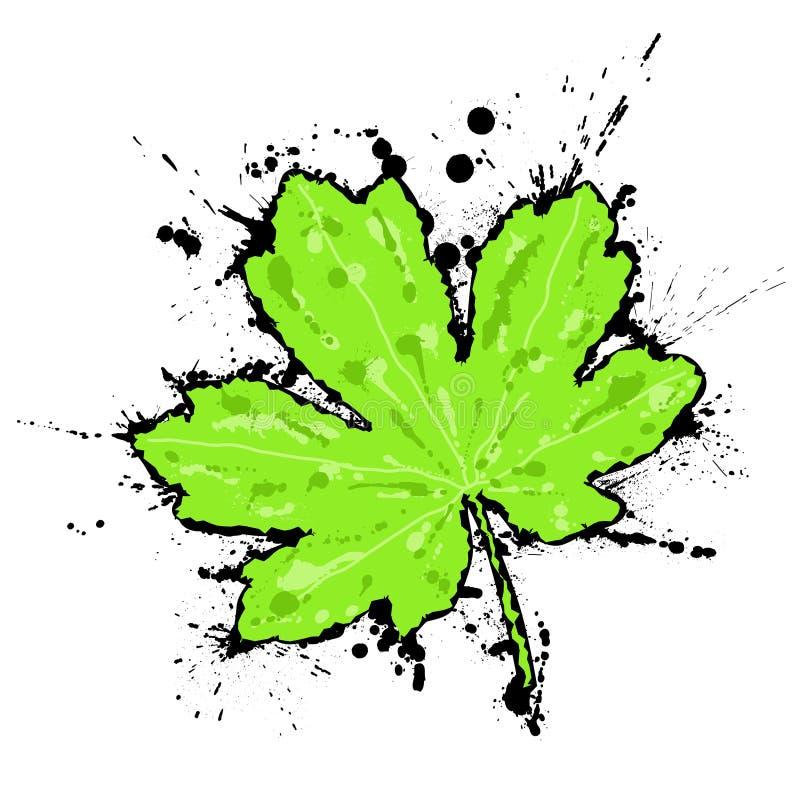 μελανωμένο φύλλο διανυσματική απεικόνιση