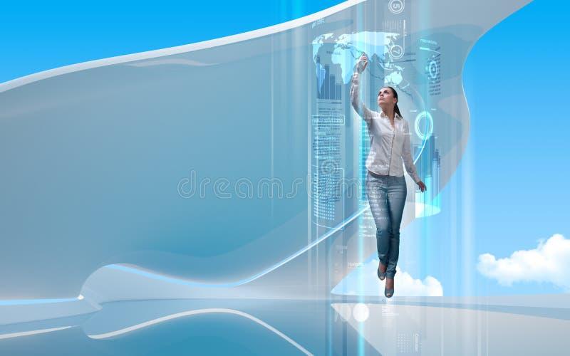 μελλοντική πύλη στοκ εικόνα με δικαίωμα ελεύθερης χρήσης