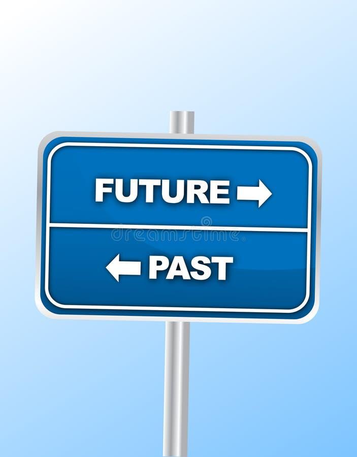μελλοντικό σημάδι παρελθόντος απεικόνιση αποθεμάτων