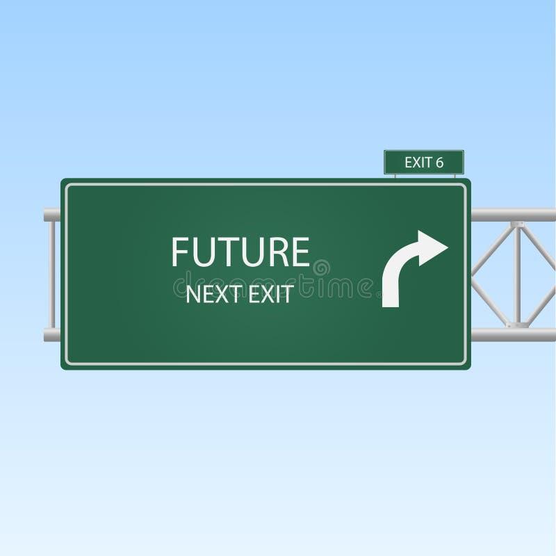 μελλοντικό σημάδι ελεύθερη απεικόνιση δικαιώματος