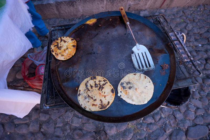 Μεξικάνικα τρόφιμα οδών gorditas στοκ εικόνες
